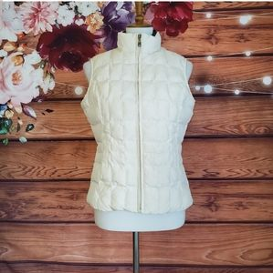 Eddie Bauer Ivory Premium Goose Down Vest
